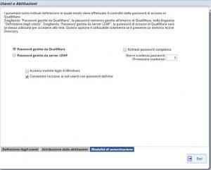 Gestione password QualiWare
